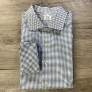 Brooks Brothers Gingham French Cuff Dress Shirt
